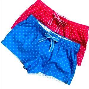Xhilaration Drawstring Pajama Shorts Lot of 2 S